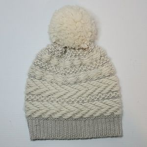 Club monaco wool touque beanie pom hat